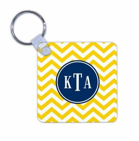 boatman geller chevron sunflower key chain