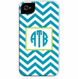 boatman geller chevron turquoise cell phone case