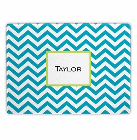 boatman geller chevron turquoise cutting board