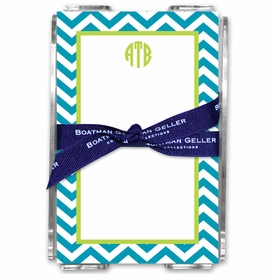 boatman geller chevron turquoise note sheets in acrylic note sheets