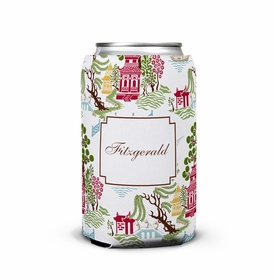 boatman geller chinoiserie autumn can koozie