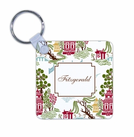 boatman geller chinoiserie autumn key chain