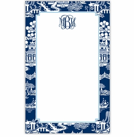 boatman geller chinoiserie navy notepad