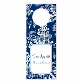 boatman geller chinoiserie navy wine tags