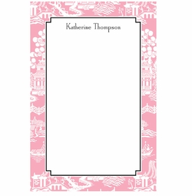 boatman geller chinoiserie pink notepad
