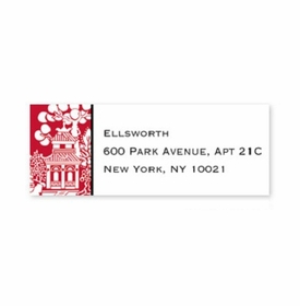 boatman geller chinoiserie red address labels