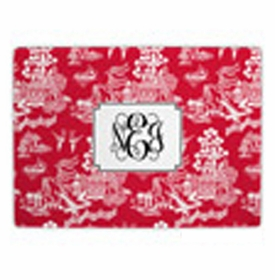 boatman geller chinoiserie red cutting board