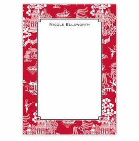 boatman geller chinoiserie red large flat