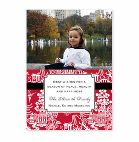 boatman geller chinoiserie red photocard
