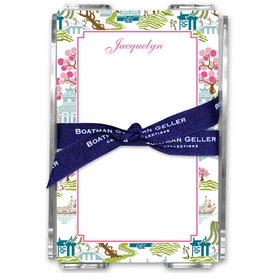 boatman geller chinoiserie spring acrylic note sheets