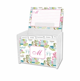 boatman geller chinoiserie spring recipe box