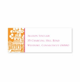 boatman geller chinoiserie tangerine address labels