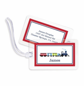 boatman geller choo choo train bag tags