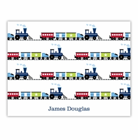 boatman geller choo choo train foldover note cards