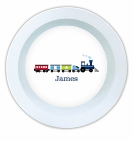 boatman geller choo choo train melamine bowl