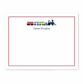 boatman geller choo choo train small flat stationery