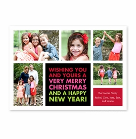 boatman geller christmas wishes black photocard
