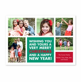 boatman geller christmas wishes emerald photocard