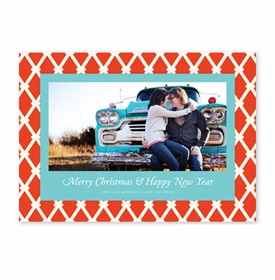 boatman geller claire light red & aqua photocard