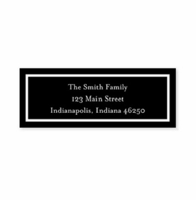 boatman geller classic black address labels