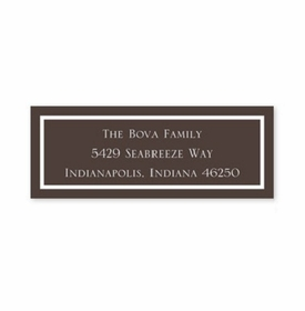 boatman geller classic brown address labels