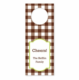 boatman geller classic check chocolate wine tags