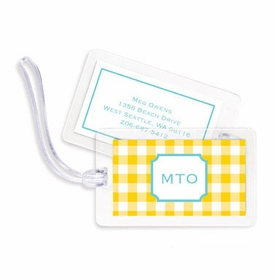boatman geller classic check sunflower bag tags