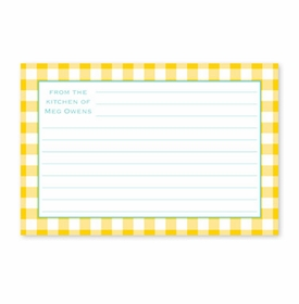 boatman geller classic check sunflower recipe card