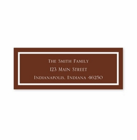 boatman geller classic chocolate address labels