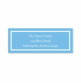 boatman geller classic cornflower address labels