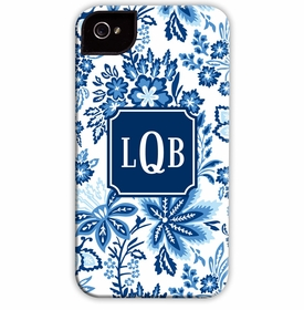 boatman geller classic floral blue cell phone case