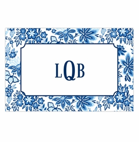 boatman geller classic floral blue disposable placemats