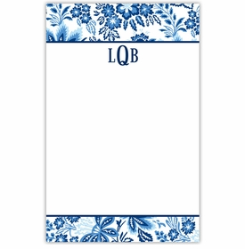 boatman geller classic floral blue notepad
