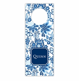 boatman geller classic floral blue wine tags
