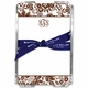 boatman geller classic floral brown acrylic note sheets