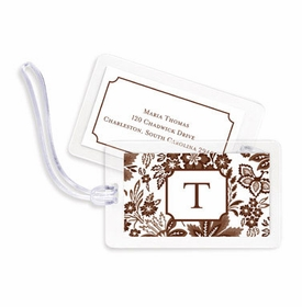 boatman geller classic floral brown bag tags