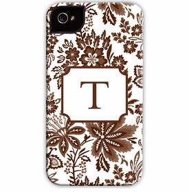 boatman geller classic floral brown cell phone case