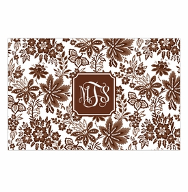 boatman geller classic floral brown disposable placemats