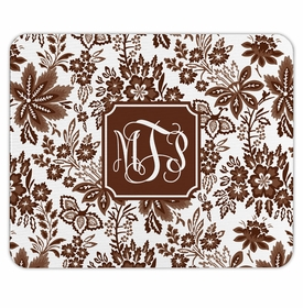boatman geller classic floral brown mouse pad