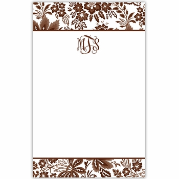 boatman geller classic floral brown notepad