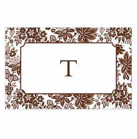 boatman geller classic floral brown placemat