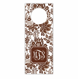 boatman geller classic floral brown wine tags
