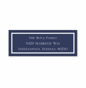 boatman geller classic navy address labels