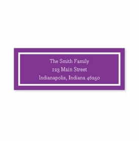 boatman geller classic plum address labels