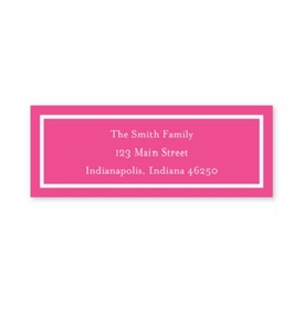 boatman geller classic raspberry address labels