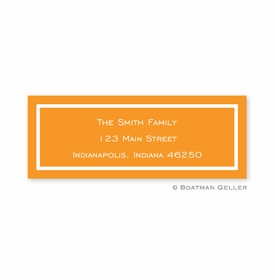 boatman geller classic tangerine address labels