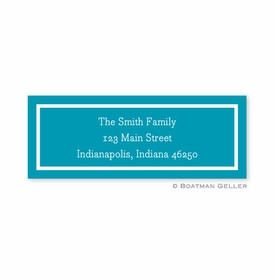 boatman geller classic turquoise address labels