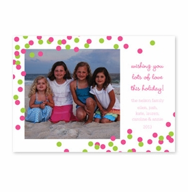 boatman geller confetti pink & green photocard