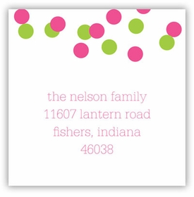 boatman geller confetti pink & green square sticker