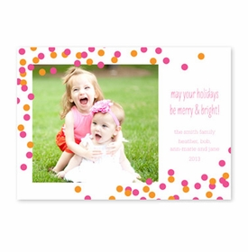 boatman geller confetti pink & orange photocard